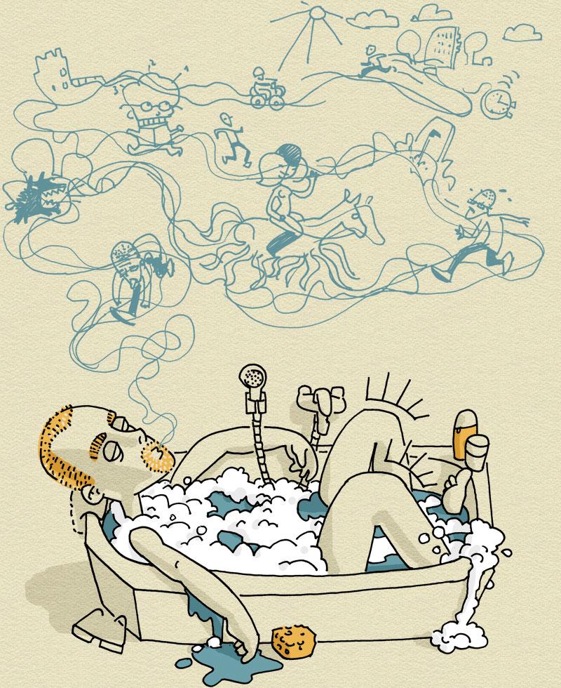 ich in der Badewanne
