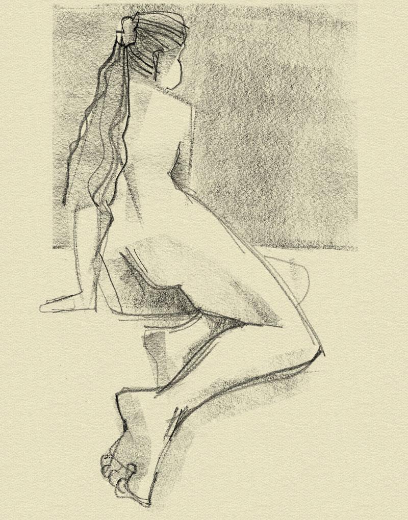 weiblicher Akt, Rücken
