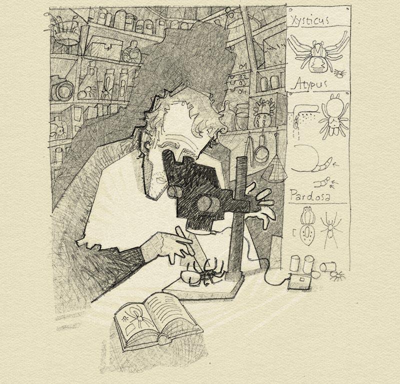 Ich mit Mikroskop