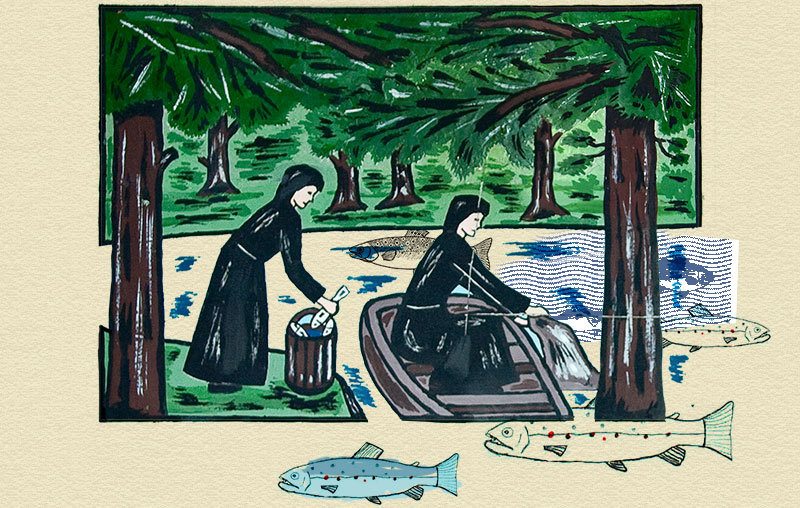 Fischende Frauen