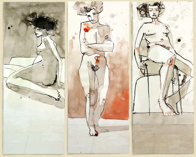 drei Frauenakte